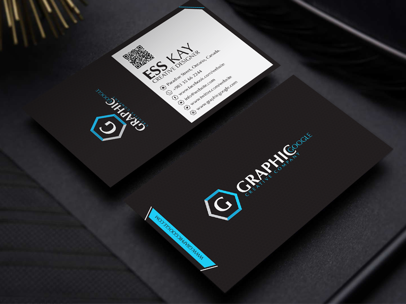 Free modern black business card template design by ess kay free modern black business card template design friedricerecipe
