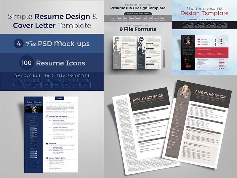10+ Newest Free & Premium Resume Templates by Ess Kay | uiconstock ...