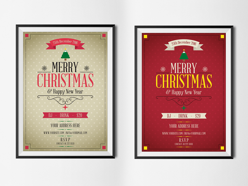 free merry christmas happy new year flyer template psd happy new year flyer christmas flyer