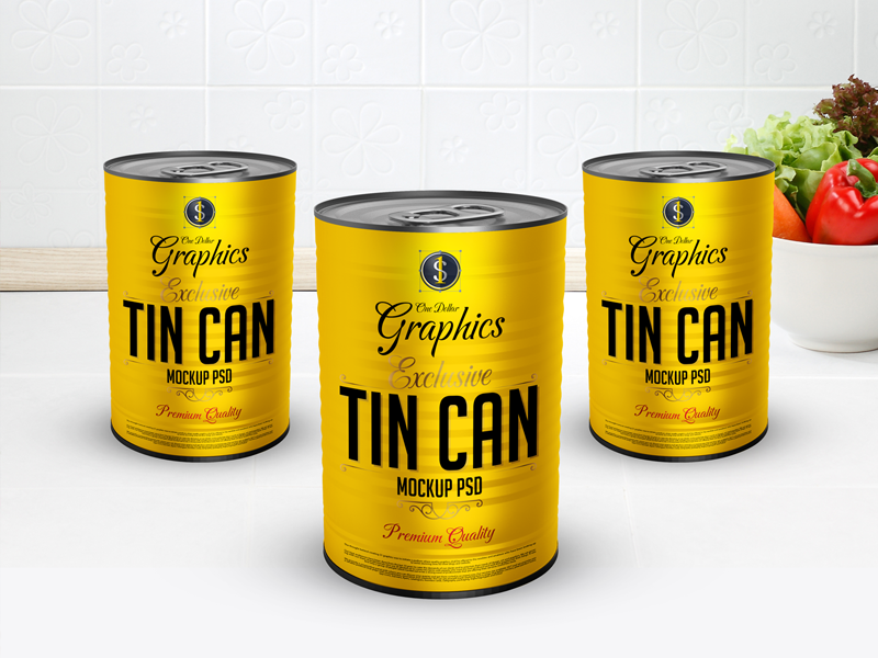 Exclusive Tin Can Mock-Up Psd For Packaging mock-up can tin
