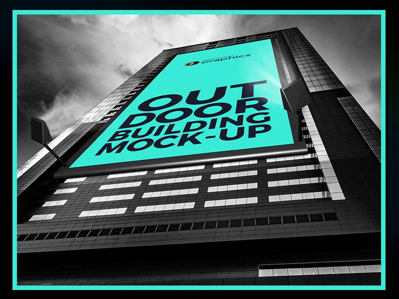 Free outdoor advertisment building billboard mock up psd