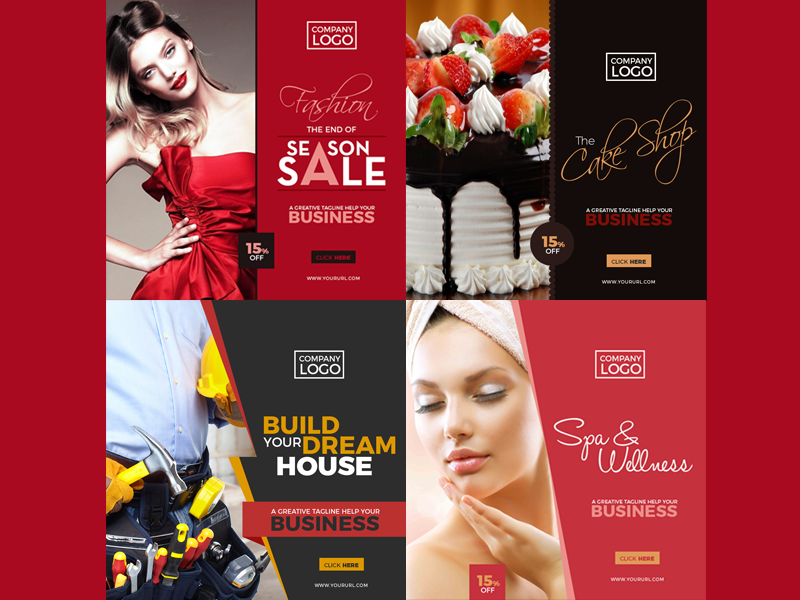 4 Free Multipurpose Instagram Banner Templates 2017 By Ess