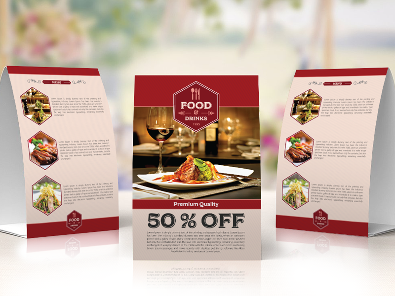 Free Restaurant Table Tent Template By Ess Kay Uiconstock Dribbble - Restaurant table tent template