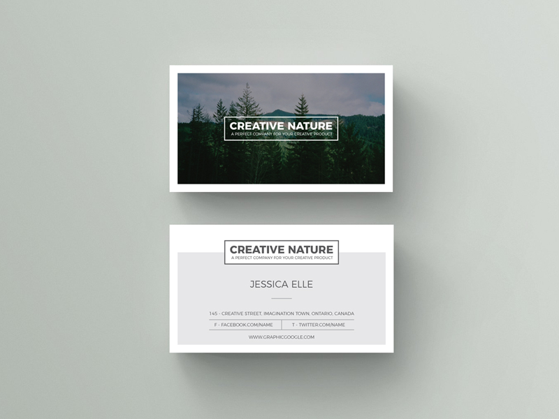 Free Creative Nature Artists Business Card Design Template card business