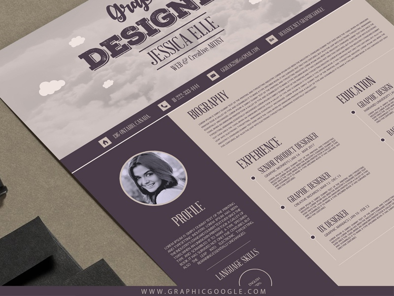 tags resume template dribbble