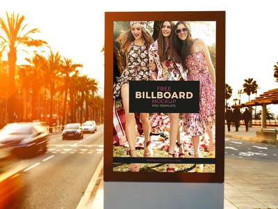 Free Outdoor Roadside Billboard MockUp Psd Template mock-up free mock-up billboard mock-up