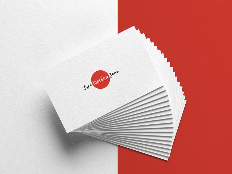 Free Elegant Business Card MockUp on Texture Background mockup b.card mockup