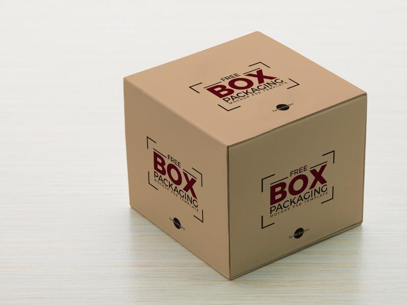 Free Box Packaging Mockup PSD Template free freebies free mockup mockup