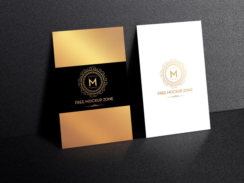 Free Standing Display Business Card Mockup