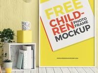 Free Children Room Photo Frame Mockup