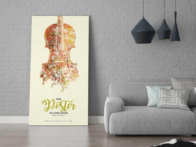 Free Poster In Living Room Mockup By Ess Kay Uiconstock Dribbble New Living Room Images Free