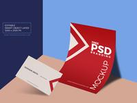 Free PSD Business Card & Paper Branding Mockup