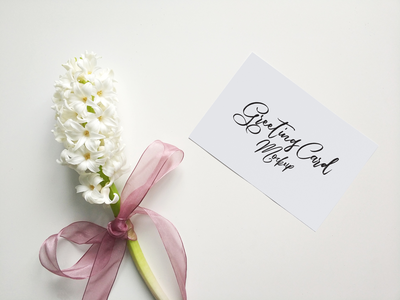Free Greeting Card Mockup Psd 2018