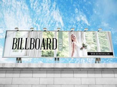 Free Building Top Billboard Mockup Psd 2018
