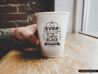 Free Vintage Coffee Cup Mockup For Logo Branding
