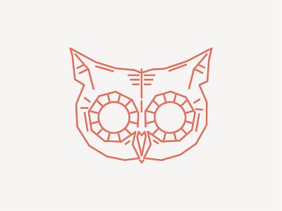 Owlin' illustration vector line animal flat stroke identity line art