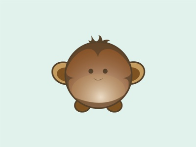 Monkey illustration vector animal cute monkey design