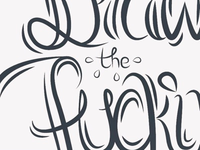 Draw The Fucking Owl hand lettering hack days lettering illustrator
