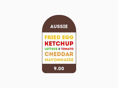 Burger  burger menu design