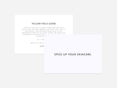 YLLO—Promo Inserts type minimal simple design insert postcard