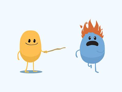 Dumb Ways To Die design cute vector illustration