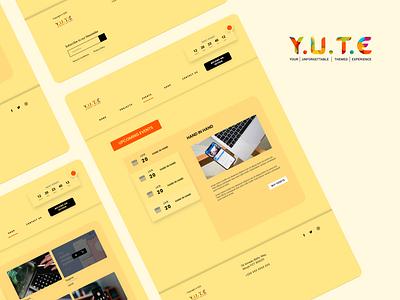 Event Management Website design visual design ux ui