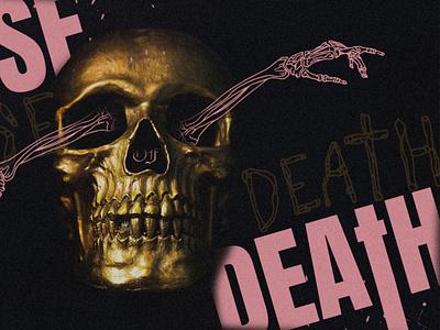 Cause of Death gold pink skeleton skull church series jesus death easter
