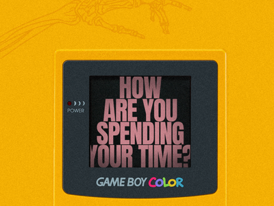 Your Time church noise death skeleton yellow nintendo gameboy waste time