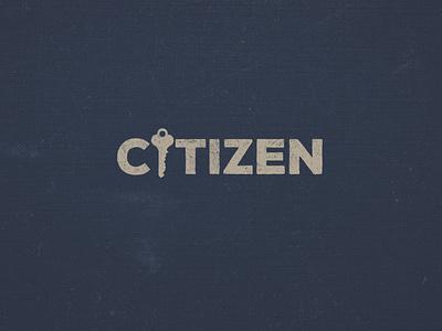 Citizen | Series Graphic type citizen key youth student passport