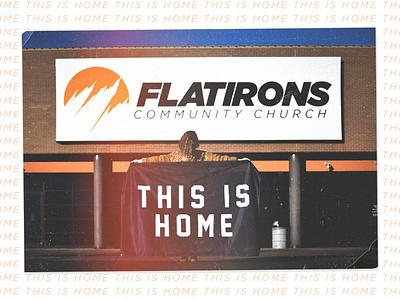 This Is Home home church flag photo