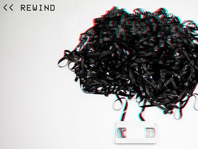 Rewind Theme Graphic student ministry youth rgb black whitespace photo photoshop glitch tape vhs rewind