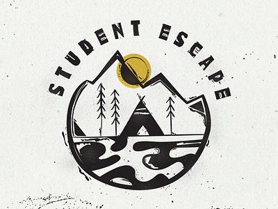 Student Escape Stamp Logo ministry logo camp student stamp