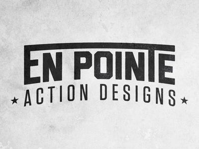 En Pointe Action Designs Wordmark