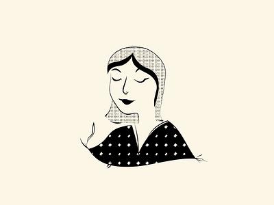 Isla 08 baby girl illustration