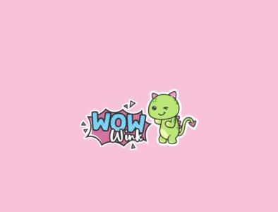 Wow Wink (Toy Company) brand identity mascot character playful design cute logo design logo