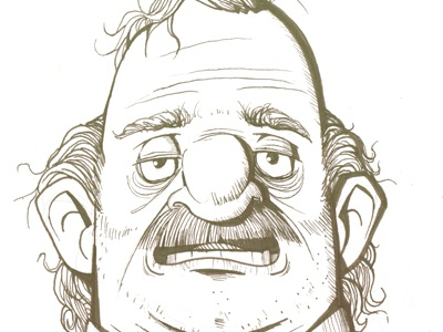 Some Dude mustache dude drunk ugly man guy sketch illustration