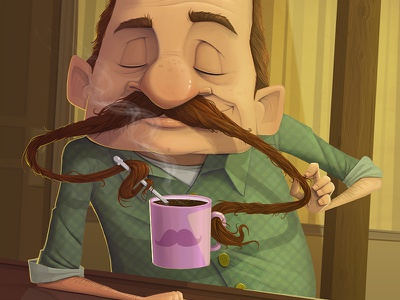 Gallery of Mo mo movember gallery dave armstrong mustache coffee illustration mug facial hair nose