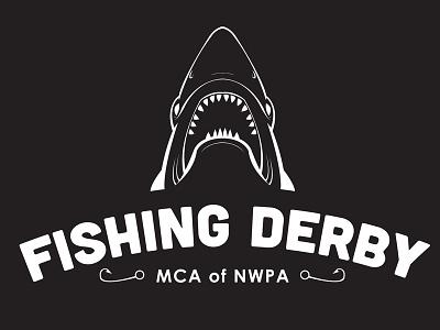 Fishing Derby Tshirt shark fish fishing illustration logo tshirt ocean lake