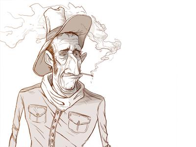 Cowboy Sketch