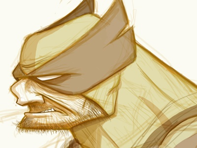 Wolvie Sketch x-men wolverine comics sketch illustration