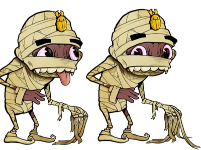 Mummy Character mummy scarab beetle rags monster illustration ipad game character dead egypt