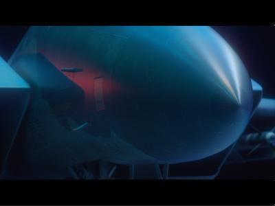 F15_02 aviation c4d 3d steel blue red airplane jet f15