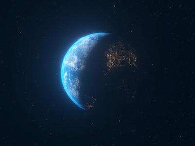 earth_5 europe c4d octane space 3d earth