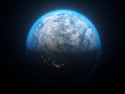 earth_4 octane cinema4d c4d 3d space planet earth