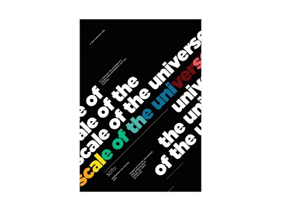 Scale Of The Universe_16 text typography type design poster universe scale
