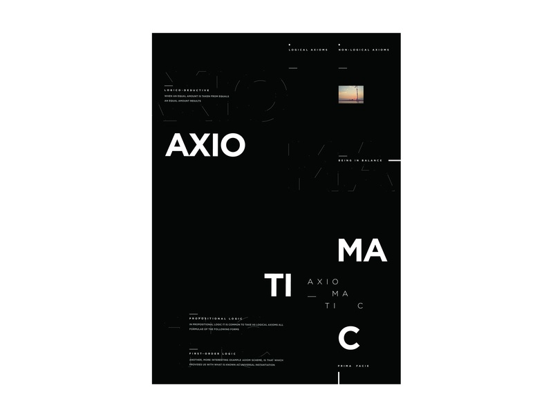 Axiomatic type science flyer poster typography
