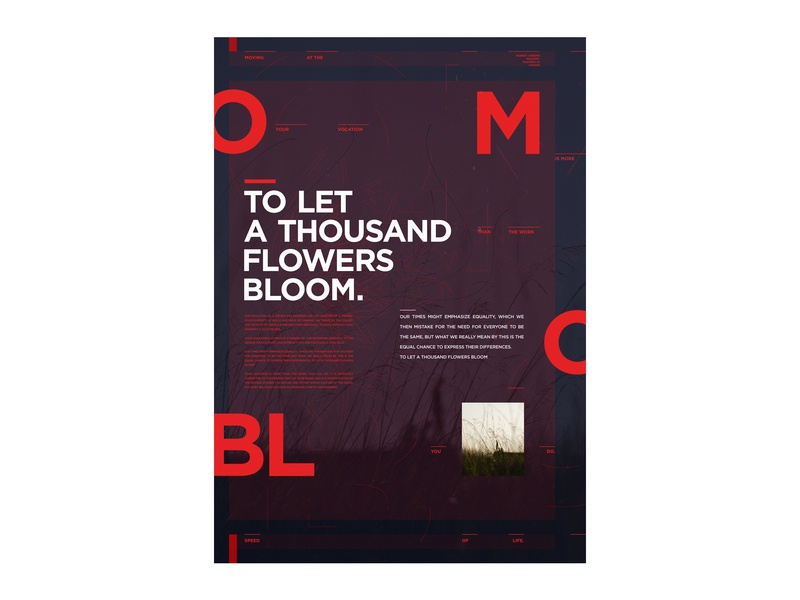 Bloom typography flowers quote poster a3 bloom
