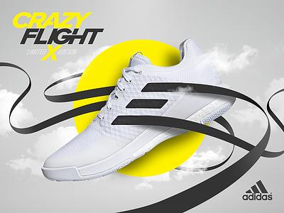 Adidas CrazyFlight X concept 3d visual sport graphic design fashion shoe advertising sneakers adidas originals adidas