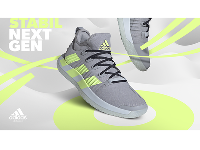 Adidas Stabil Next Gen handball visual design adidas originals shoes sneakers ad adobe photoshop adidas branding