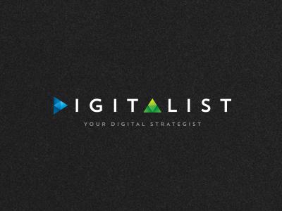 Digitalist concept modern digital brand logo